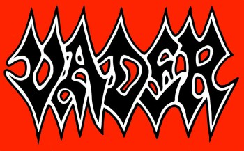 Vader - large classic band logo - red background