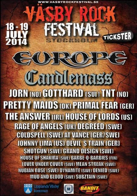 Vasby Rock Festival - 2014 - promo flyer