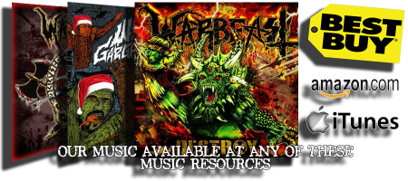 Warbeast - albums for sale at promo banner - 2014