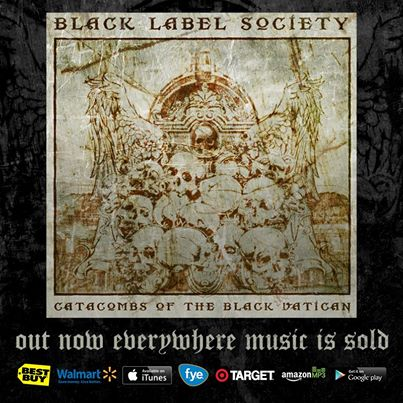 Black Label Society - Catacombs Of The Black Vatican - promo album flyer - 2014 - #035050
