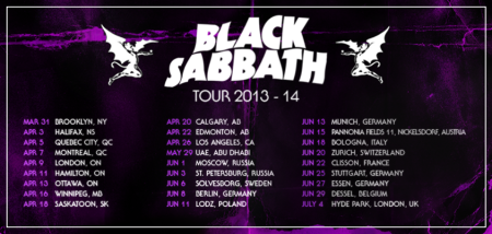 Black Sabbath - Tour Dates - 2014 - promo flyer - #80050