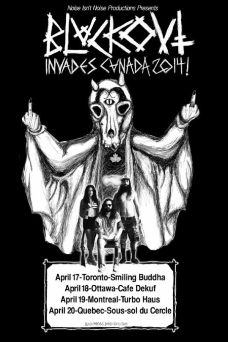 Blackout - Invades Canada - 2014 Tour - promo flyer