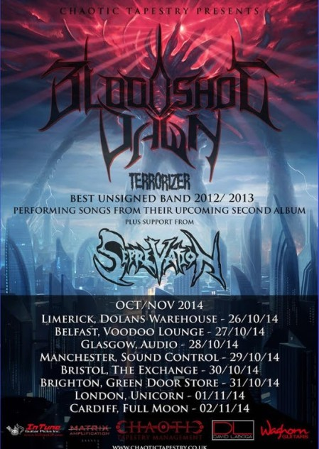 Bloodshot Dawn - promo tour flyer - 2014 - #06000