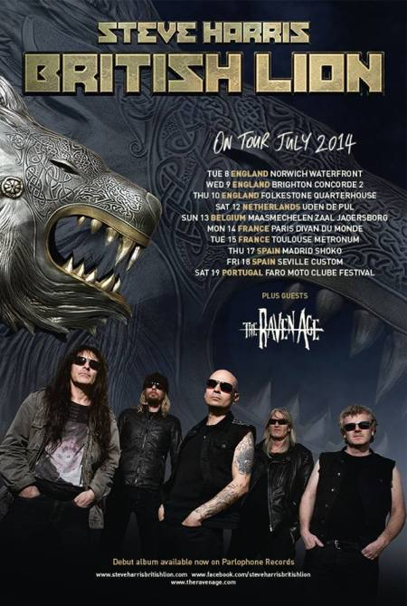 British Lion - Steve Harris - July Tour 2014 - promo flyer