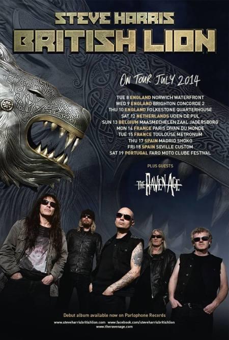 British Lion - Steve Harris - July Tour 2014 - promo flyer