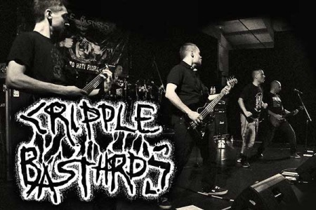 Cripple Bastards - promo live band pic - band logo - 2014 - #030550