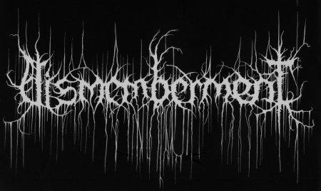 Dismemberment - band logo - B&W - 2014