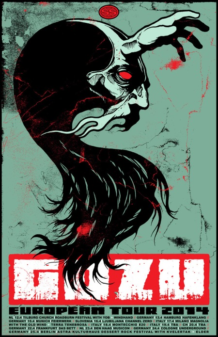 Gozu - European Tour 2014 - promo flyer