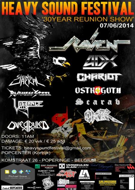 Heavy Sound Festival - Belgium - 2014 - promo flyer - Raven