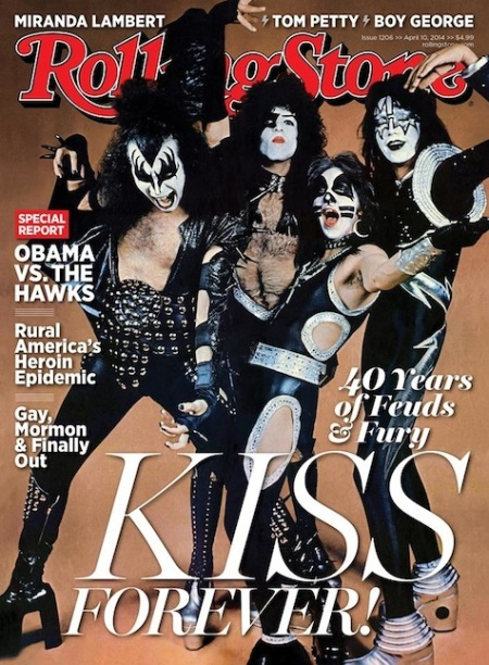 Kiss - Rolling Stone Magazine - promo cover pic