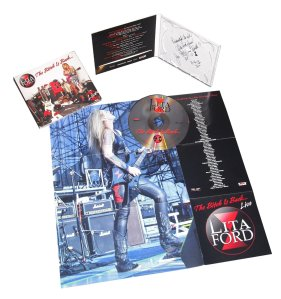 Lita Ford - The Bitch Is Back - Live - promo cd - liner notes pic