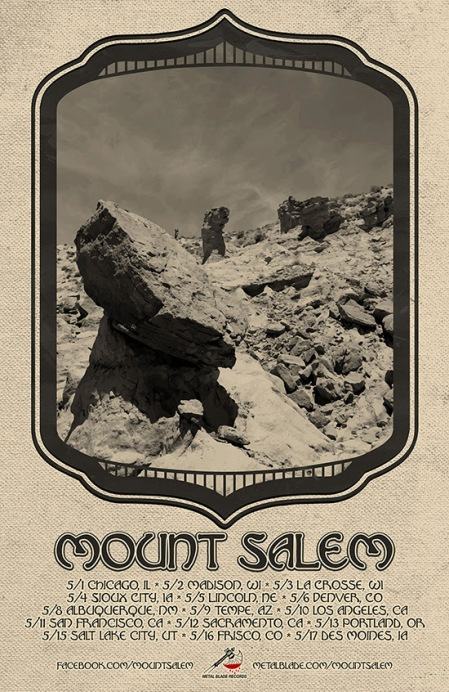 Mount Salem - May 2014 - Tour Promo Flyer