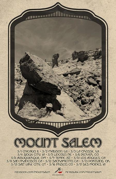 Mount Salem - May 2014 - Tour Promo Flyer