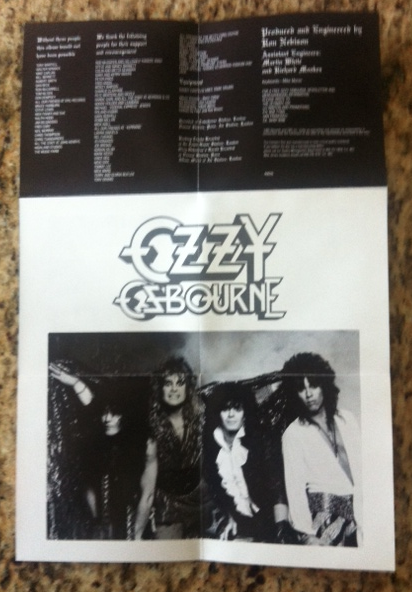 Ozzy Osbourne - The Ultimate Sin - Liner Notes - Band Pic - Metal Odyssey - 2014
