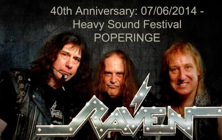 Raven - Heavy Sound Festival - Poperinge - 2014 - promo band pic