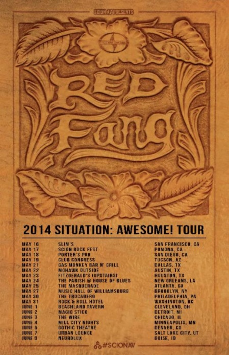Red Fang - situation awesome - 2014 - tour flyer - may