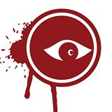 Retro Futurist - Record Label Logo - red & white - 2014