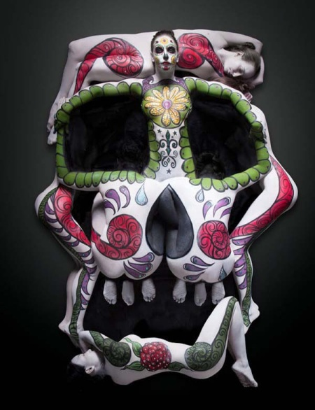 Skull - 7 ladies shape - art