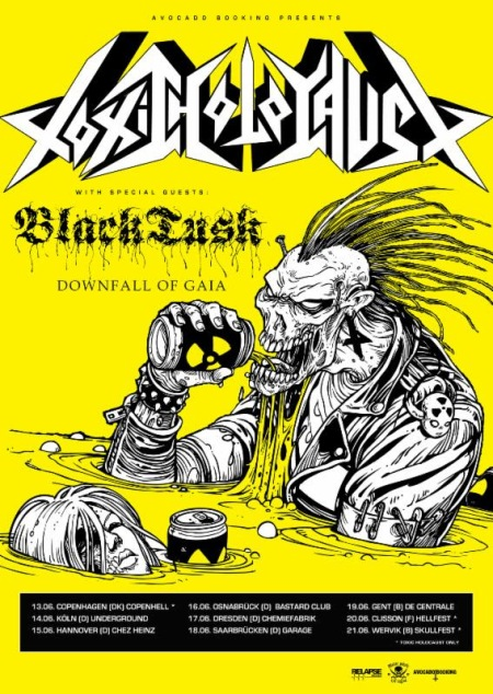 Toxic Holocaust - Black Tusk - European Tour - 2014 - promo flyer