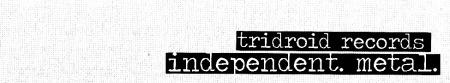 Tridroid Records - Large Logo - B&W - #04007