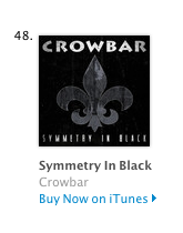 Crowbar - Symmetry In Black - itunes chart position - May 30 - 2014