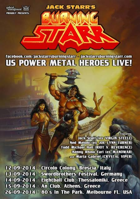Jack Starr's Burning Starr - Promo Tour Flyer - September 2014