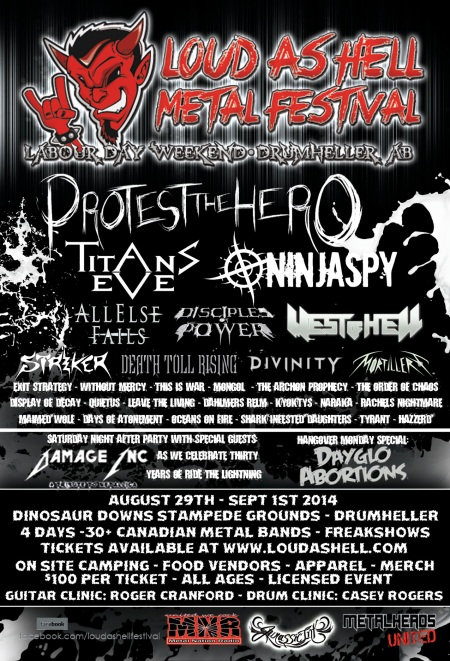 Loud As Hell Metal Festival - 2014 - promo flyer