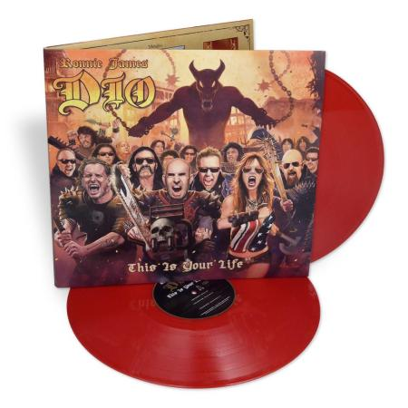 Ronnie James Dio - This Is Your Life - promo vinyl pic - 2014 - red vinyl