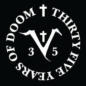 Saint Vitus - 35 Years Of Doom - large logo - 2014 - B&W