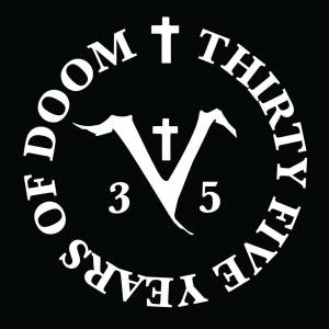 Saint Vitus - 35 Years Of Doom - large logo - 2014 - B&W