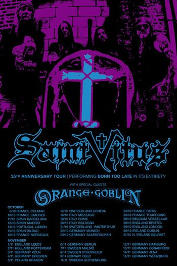Saint Vitus - Orange Goblin - 35th Anniversary Tour - 2014 - promo flyer