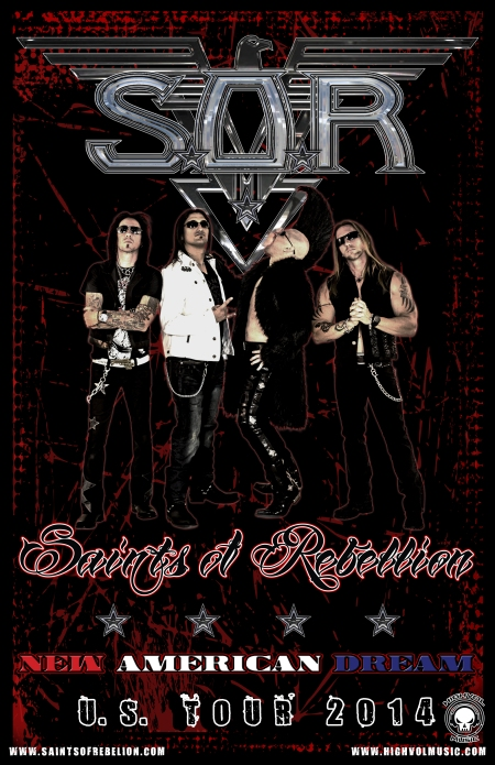 Saints Of Rebellion - US Tour promo flyer - Summer 2014