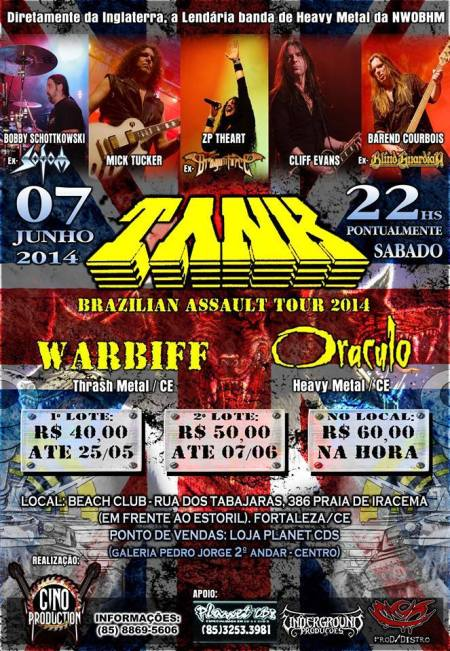Tank - Brazillian Assault Tour - 2014 - promo flyer - #02