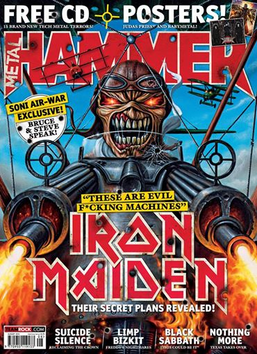 Iron Maiden - Metal Hammer - Promo Cover Pic - August 2014