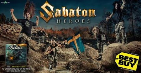 Sabaton - Heroes - Best Buy - promo banner - May 2014