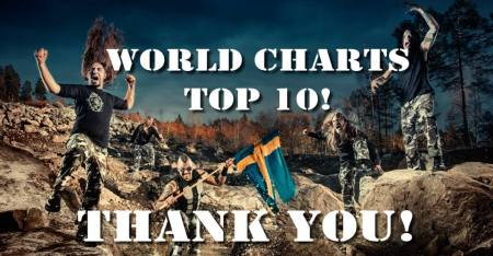 Sabaton - World Charts - Top 10 - Heroes banner - 2014