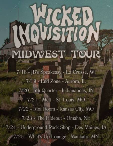 Wicked Inquisition - July 2014 - tour promo flyer
