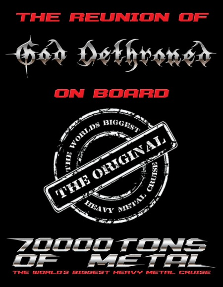 God Dethroned - 70000Tons Of Metal - 2015 - promo flyer