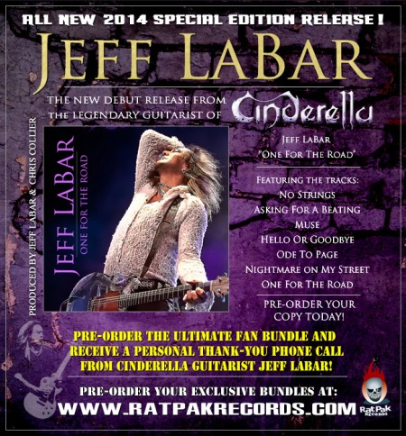 Jeff Labar - One For The Road - promo flyer - 2014
