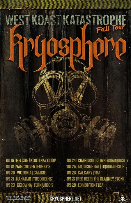 Kryosphere - west koast katastrophe - tour flyer - 2014