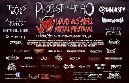 Loud As Hell Festival - 2014 - promo flyer banner