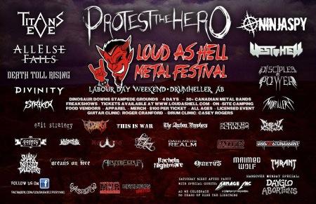 Loud As Hell Festival - 2014 - promo flyer banner