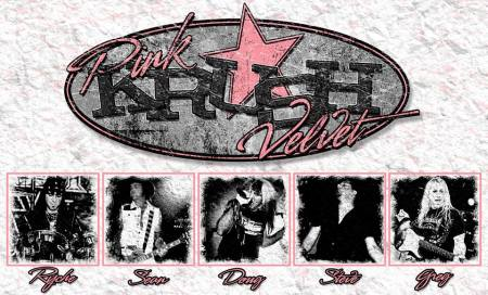 Pink Velvet Krush - promo logo - band collage - 2014 - #00492