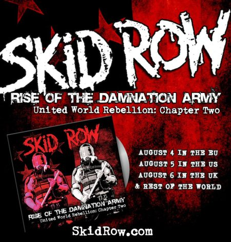 Skid Row - Rise Of The Damnation Army - promo flyer - 2014