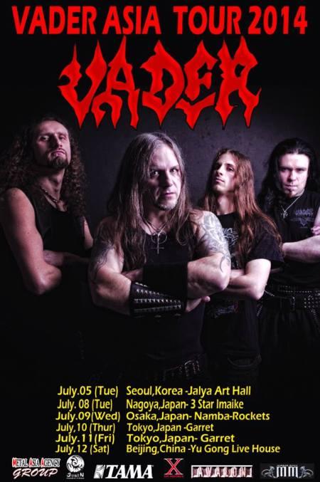 Vader - Asia Tour 2014 - promo tour flyer