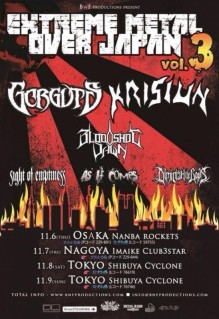 Bloodshot Dawn - Japan Tour Promo Flyer - 2014