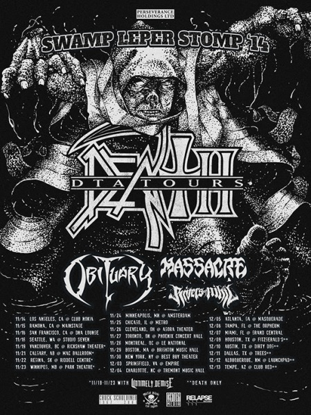 Death DTA Tours - promo flyer - 2014 - North America