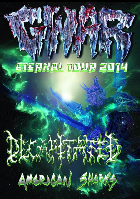 Gwar - Eternal Tour 2014 - promo flyer - #0011