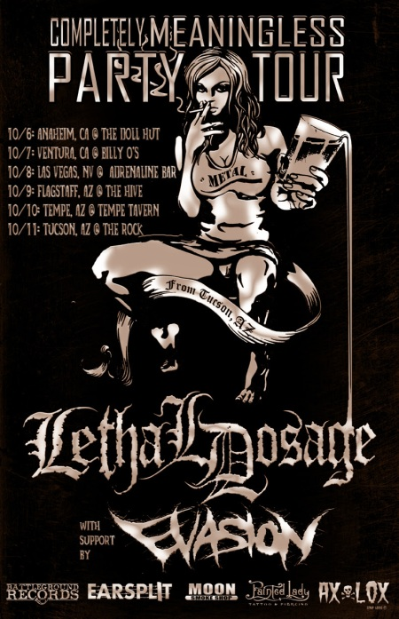 Lethal Dosage - Meaningless Party Tour - promo flyer - 2014