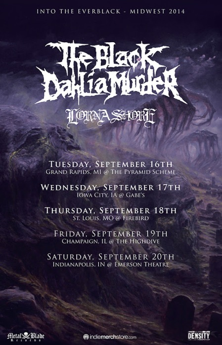 The Black Dahlia Murder - promo flyer pic - Lorna Shore - 2014 - #019